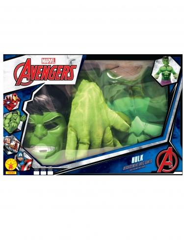 Cofanetto costume Hulk™ per bambino con guanti giganti-1