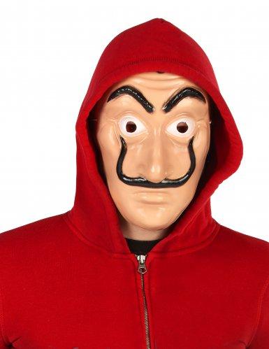 Maschera da rapinatore con baffi  per adulto
