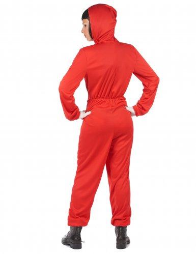Costume tuta rossa da rapinatore artista per adulto-3
