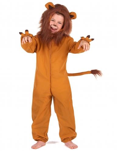 Costume da leone con criniera per bambino
