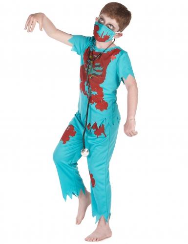 Costume da dottore zombie per bambino-1