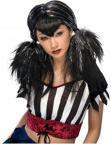 Parrucca con frangia a punta per donna