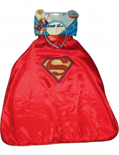 Cerchietto e Mantello Supergirl™ Super Hero Girl™ per bambino
