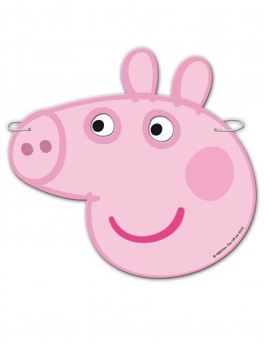 6 Maschere in cartone Peppa Pig™-1