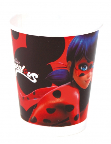 8 Bicchieri di Ladybug™ in cartone
