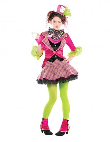 Costume da cappellaio matto rosa per bambina