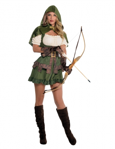Costume da arciere sexy verde per donna