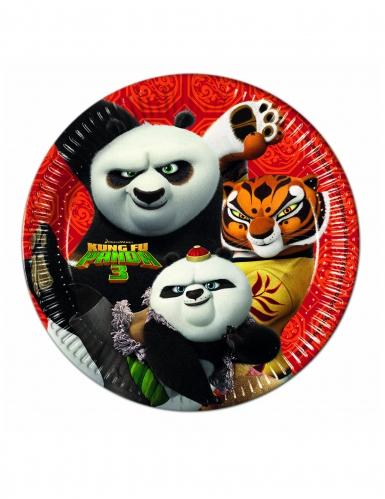 8 Piatti in cartone Kung Fu Panda 3™ 23 cm