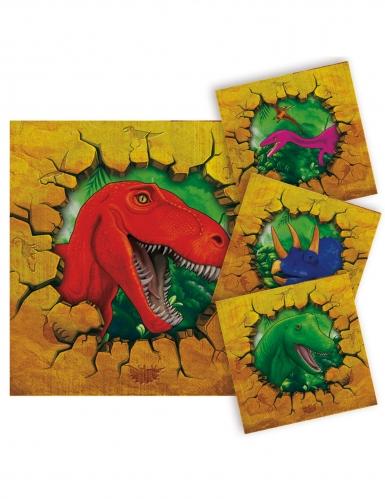 16 Tovaglioli piccoli di carta Dinosauri