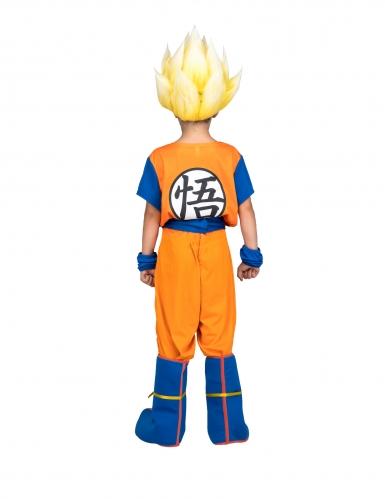 Cofanetto costume Goku Super Sayan Dragon Ball™ bambino con parrucca-2