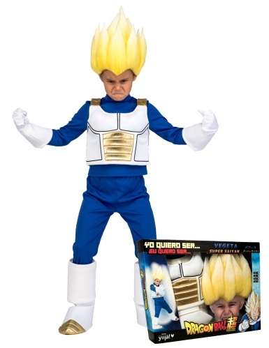 Cofanetto costume e parrucca Super Sayan Vegeta Dragon Ball™ bambino