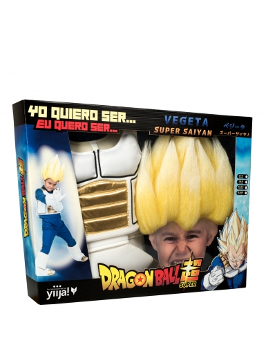 Cofanetto costume e parrucca Super Sayan Vegeta Dragon Ball™ bambino-3