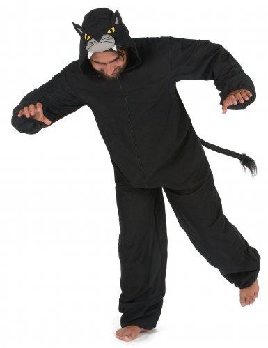 Costume tuta da pantera nera per uomo-1