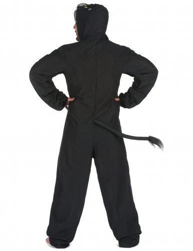 Costume tuta da pantera nera per uomo-2