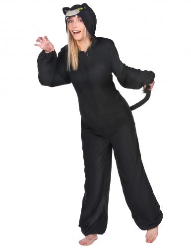 Costume tuta pantera nera per donna-1