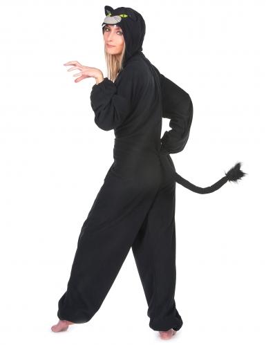 Costume tuta pantera nera per donna-2