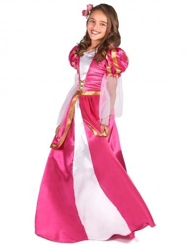 Costume da principessa medievale rosa per bambina-1