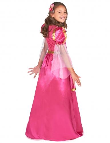 Costume da principessa medievale rosa per bambina-2