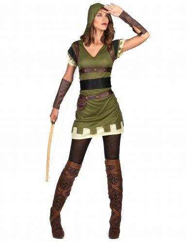 Costume arciere verde donna-1
