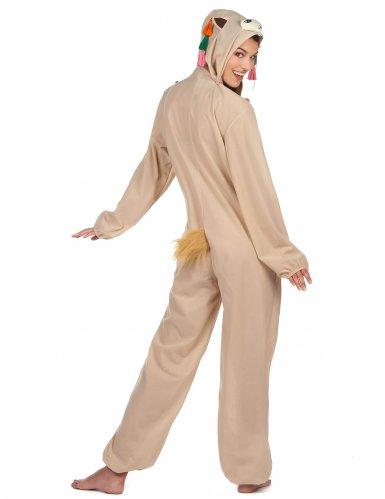 Costume tuta con cappuccio da lama per donna-2