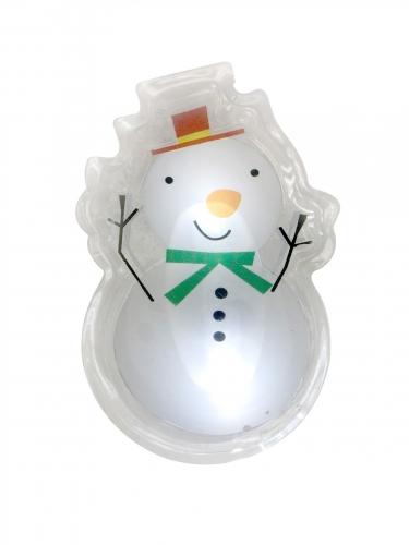 Sticker LED pupazzo di neve
