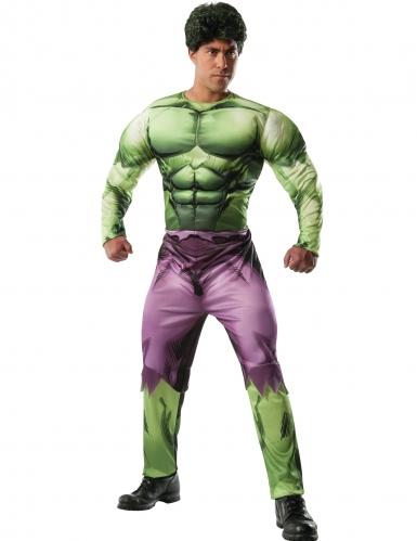 Costume deluxe Hulk™ muscoloso per adulto