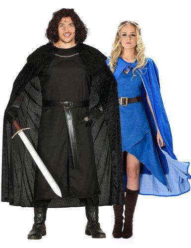 Costume di coppia eroi dei 7 regni per adulti