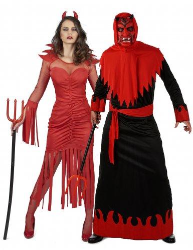 Costume coppia di demoni per adulti