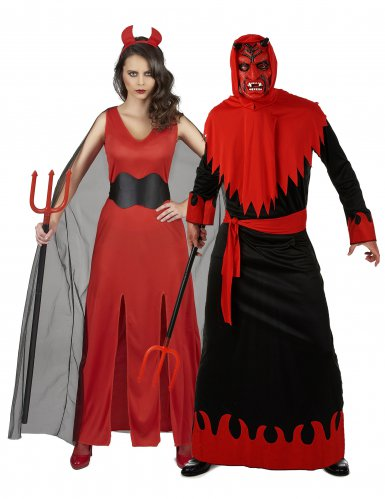 Costume coppia demoniaca per adulti