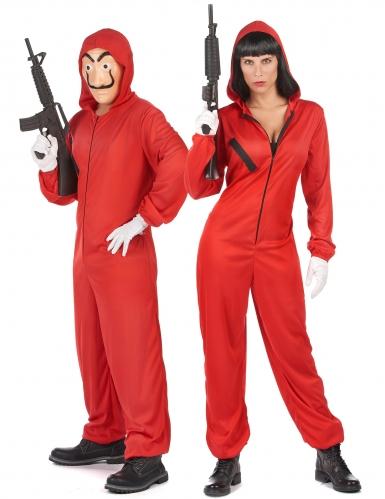 Costume di coppia rapinatori rossi