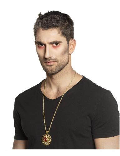 Collana medaglione d'oro per adulto