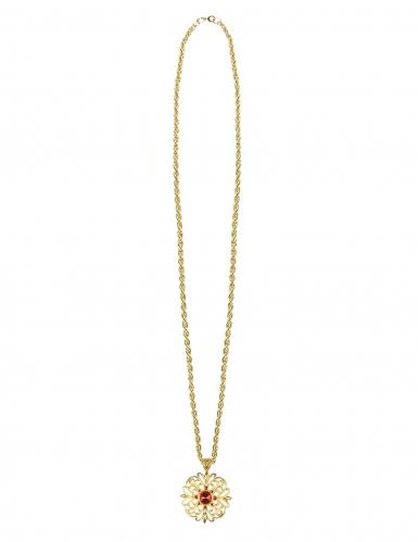 Collana medaglione d'oro per adulto-1