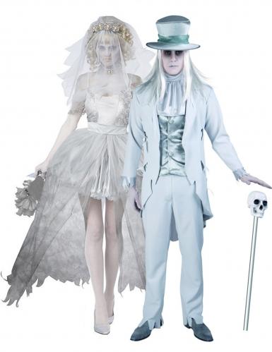 Costume di coppia sposi fantasma halloween