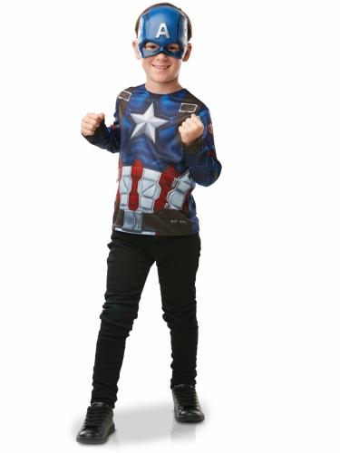 T-shirt e maschera di Capitan america™ per bambino-1