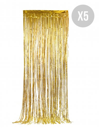 5 Tende scintillanti oro
