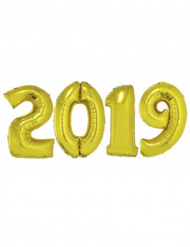 Set Capodanno 2019 Palloncini Giganti in alluminio oro
