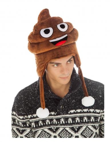 Cappello Emoji™ cacca per adulto
