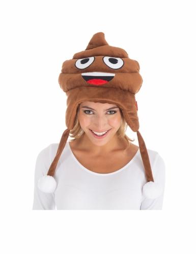 Cappello Emoji™ cacca per adulto-1