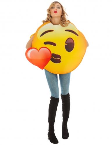 Costume Emoji™ Bacio con cuore per adulto
