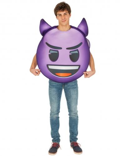 Costume Emoji™ Diavolo viola per adulto