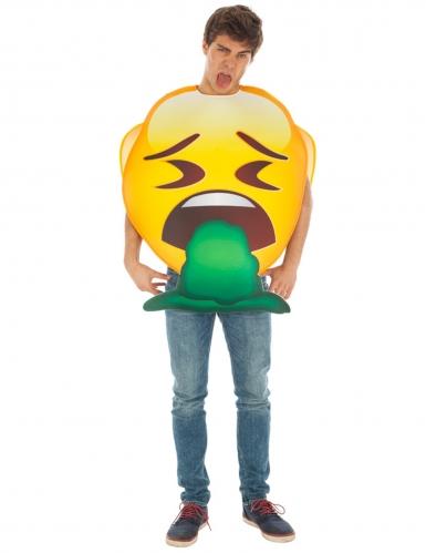 Costume Emoji™ Vomito per adulto