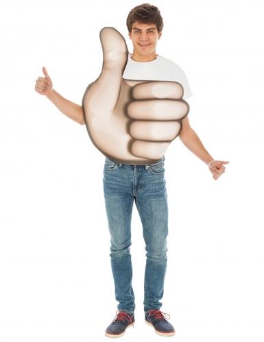 Costume Emoji™ pollice in su adulto