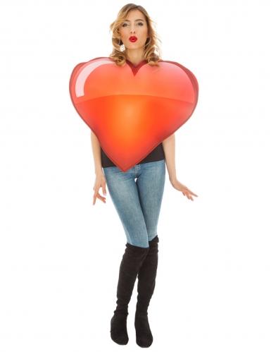 Costume Emoji™ cuore adulto