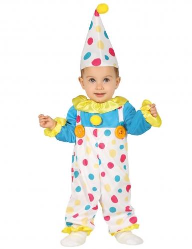 Costume da clown a pois per neonato