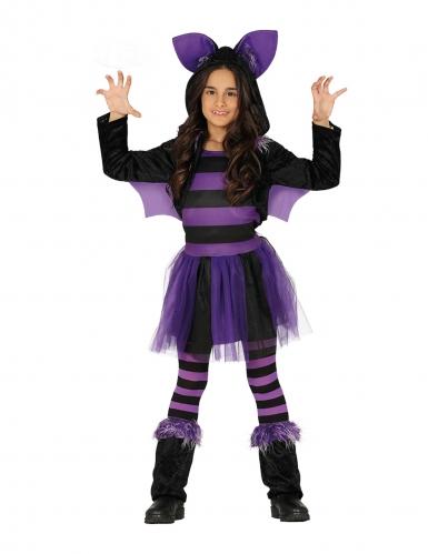Costume pipistrello viola con tutù bambina