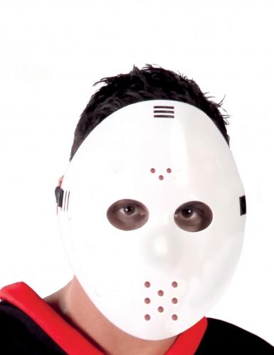 Maschera da hockey bianca per adulto