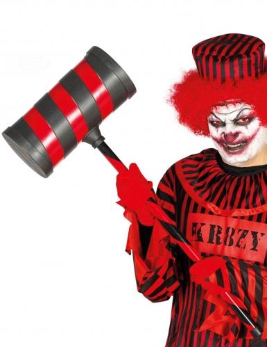 Martello rosso e nero per clown assassino per adulto