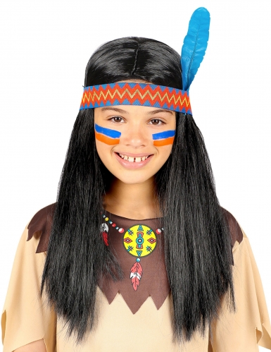 Parrucca indiano con fascia bambino