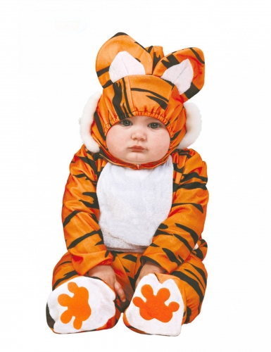Costume tuta da tigre nera e arancio per neonato