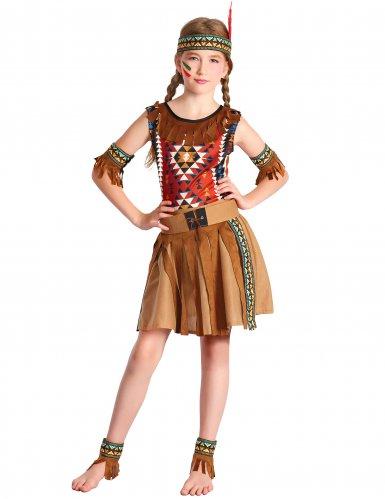 Costume da indiana d'america per bambina